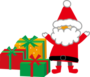 クリスマスプレゼント サンタの画像